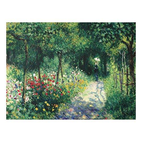 Bilderwelten Glasbild Wandbild Auguste Renoir - Frauen im Garten 60 cm x 80 cm