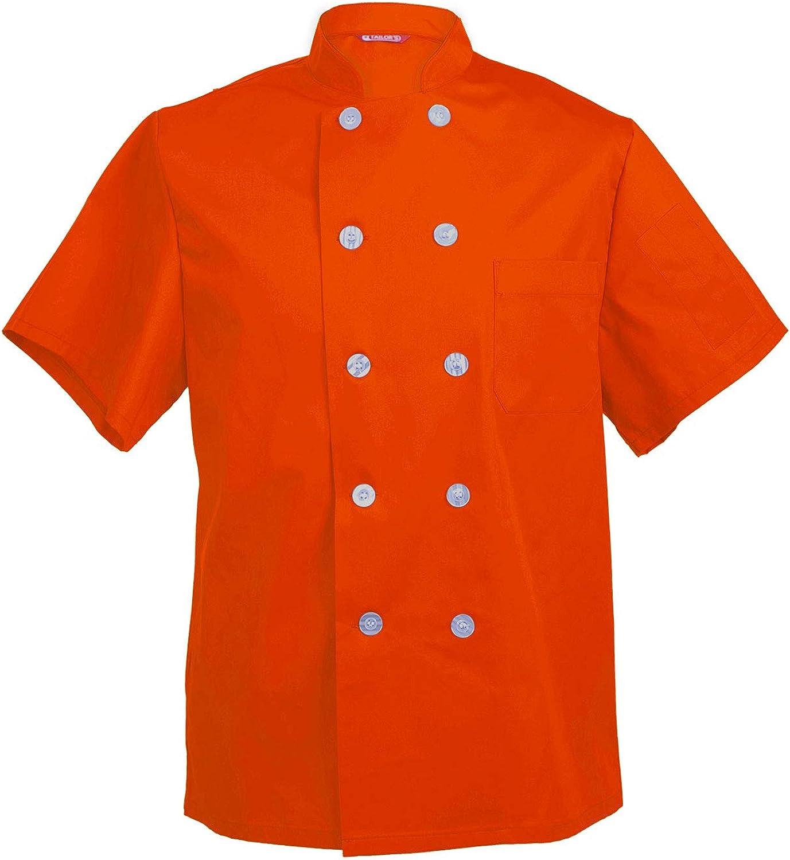 Men's Chef Coat Max 76% OFF Short Sleeve Cook Barista Baker Shirt Credence