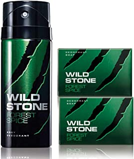 Wild Stone Forest Spice Deodorant and 2 Forest Spice Soap