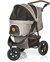 TOGfit Pet Roadster - Luxury Pet Stroller for Puppy, Senior Dog or Cat | Easy Foldable Three Wheels Travel Pet Jogger max. Loading 70 lb, Mattress Included - Gray
