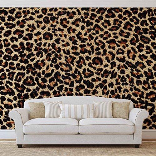 Leopard - Forwall - Fototapete - Tapete - Fotomural - Mural Wandbild - (190WM) - XXL - 368cm x 254cm - Papier (KEIN VLIES) - 4 Pieces