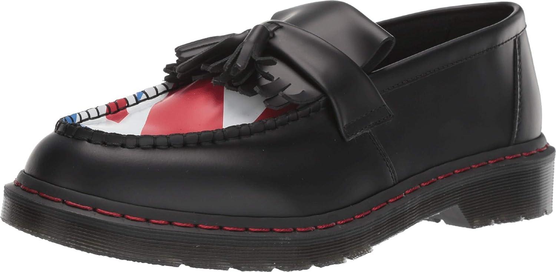 Dr. Martens Adrian Tassle Loafer Slip-On (11 M UK, Black The Who Union Jack Smooth)