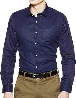 Sunshiny Men's Solid Blue Shirts Full Sleeves