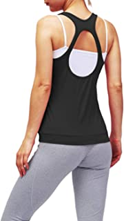Bestisun Women Workout Strappy Tank Tops Racerback Active Muscle Clothes Exercise Gym Activewear