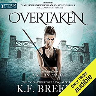Overtaken     The Warrior Chronicles, Book 6              By:                                                                                                                                 K. F. Breene                               Narrated by:                                                                                                                                 Caitlin Davies                      Length: 7 hrs and 47 mins     398 ratings     Overall 4.8