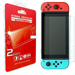 Old Skool Tempered Glass Screen Protector for Nintendo Switch 2017 (2-Pack) HD Shield with Anti-Bubble & Anti-Fingerprint Film