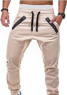 YCHENG Men's Overalls Comfortable Bottoms Sweatpants Cargo Trousers Hip hop Men Wearable Pants Streetwearfor Wild Wear