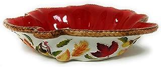 Temp-tations Harvest Maple Leaf Casserole Bakeware or Serving Bowl (1 Quart) P-3