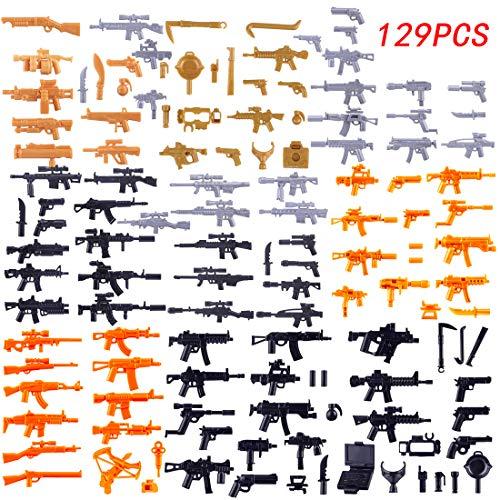 FutureShapers 129St. Set de Armas Personalizadas para los Soldados de la policía. Figuras del Equipo SWAT, Coinciden con el Lego.