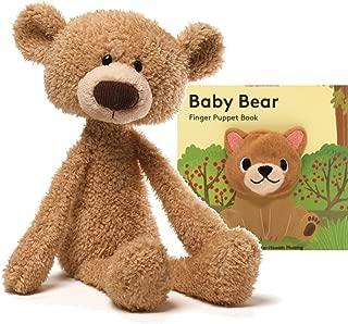 "GUND Toothpick Teddy Bear Stuffed Animal Plush, Beige, 15"" Collection (Gift Set)"