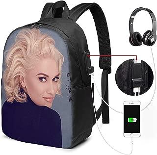 Honghuawenhua Casual Unisex Big Capacity Gwen Stefani Hiking Bags with USB Charging Port 17 Inch Gift