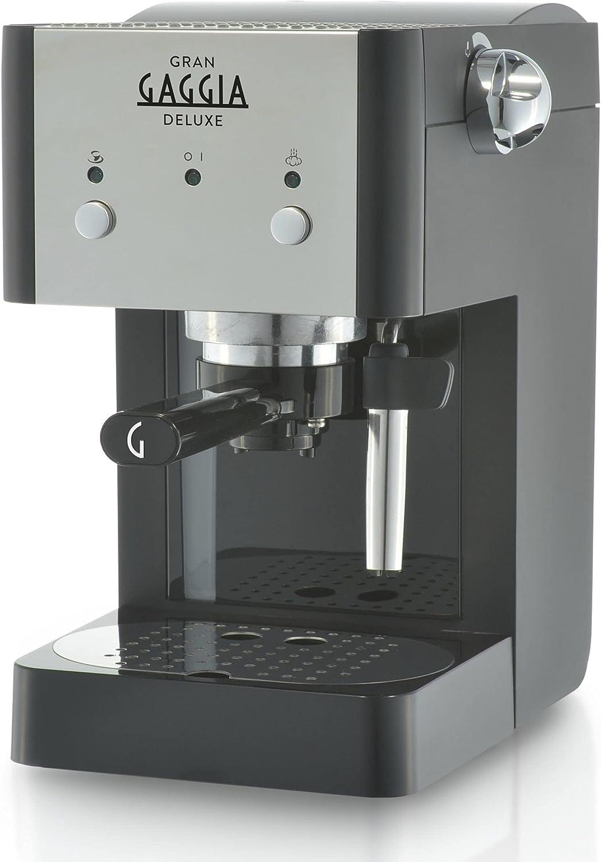 Gaggia RI8425/11 - Cafetera (Independiente, Máquina espresso, 1 L, De café molido, 1025W, Negro, Plata)