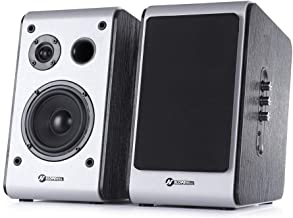 $24 » Sponsored Ad - ISENPENK Powered Bluetooth Bookshelf Speaker, Home Theater Bookshelf Speakers, Pair Black Speaker