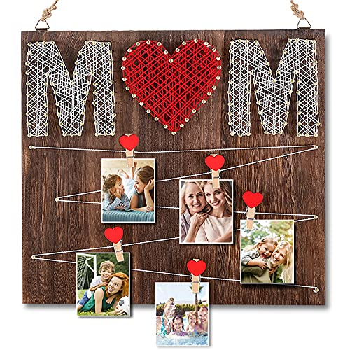 ComboJoy Handmade 'MOM' Photo Frame - Gifts for Mom from Daughter &...