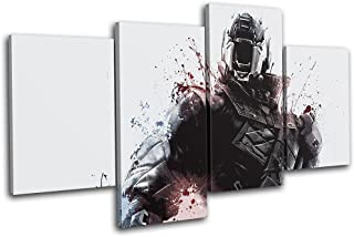 Bold Bloc Design - Destiny Soldier XBOX ONE PS4 PC Gaming 120x68cm MULTI Canvas Art Print Box Framed Picture Wall Hanging - Hand Made In The UK - Framed And Ready To Hang