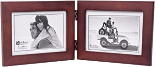 Malden Double Horizontal 4x6 Picture Frame - Wide Real Wood Molding, Real Glass - Dark Walnut