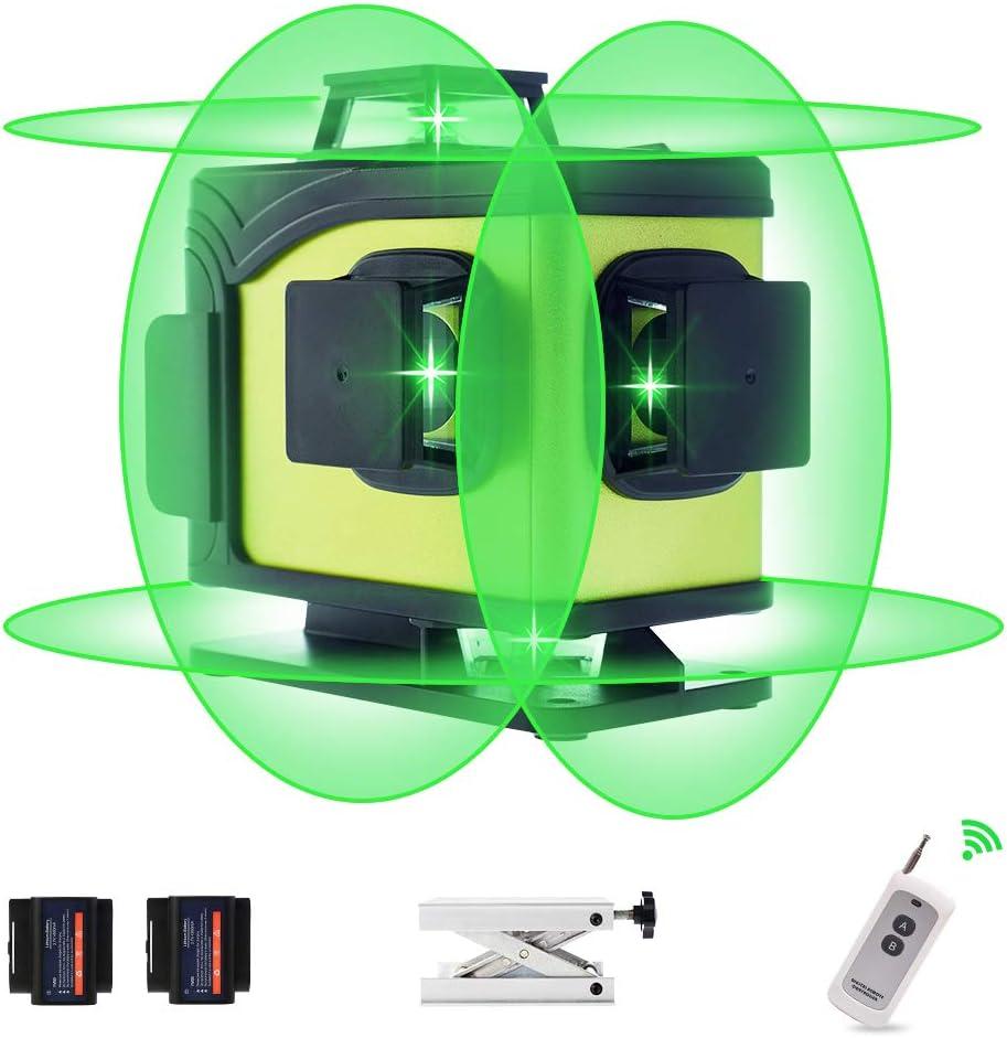 KINAVEL 4x360° Laser Level Rechargeable Self Leveling Laser L