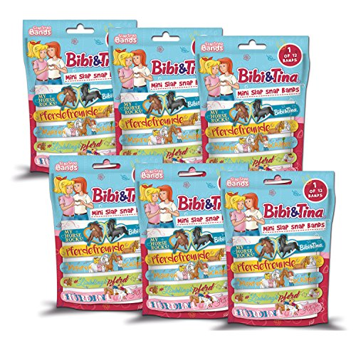 Craze Bibi & Tina Slap SNAP Bands 6er Bundle Bibi und Tina Armbänder Kinderschmuck 14363, unisex-child bunt