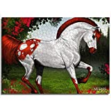 CCBRA Giocattoli Puzzle per Adulti e Bambini Bel Cavallo Bianco Regali Unici per Coppie e Amici 1000 Pezzi Puzzle in Legno