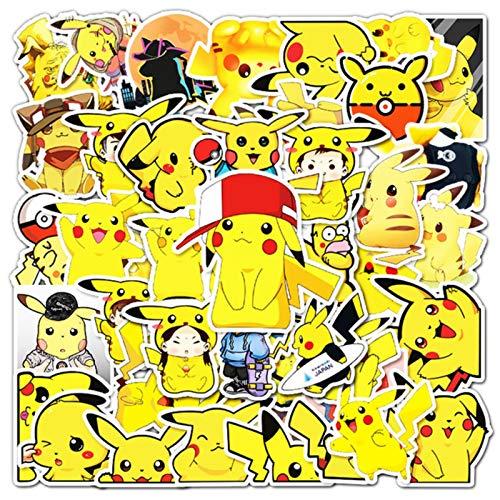 54 unids impermeable dibujos animados niños Pokemon juguete mixto etiqueta scooter bicicleta teléfono móvil portátil viaje bolsa divertido graffiti