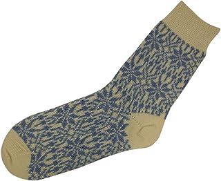 Hirsch Natur, 100% de lana pura bicicleta star peso medio diseño de patrón de tela de tobilleras con peso calcetines