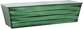 Achla Designs Galvanized Window Flower Box Planter-Green-Large (35.5