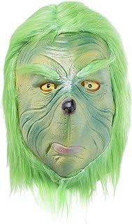 CosplayDiy Christmas Xmas Santa Green Suit Cosplay Christmas Furry Mask Furry Pants Furry Gloves Monster Cosplay