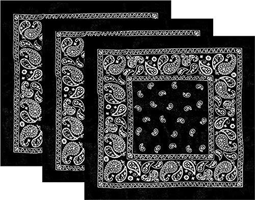 Latocos 6 Piezas Paisley Bandana Pañuelos Cabeza Pañuelos Cuello Deportivo Algodón Bandanas para Mujer Hombre