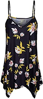 Adeliber Women's Summer Loose Button T-Shirt Vest Sexy Strapless V-Neck Cami Vest Shirt Shirt