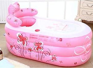 Opblaasbare badkuip, draagbare plastic volwassen opblaasbare bad, baby zwembad, vrijstaand bad, elektrische pomp, non-slip...