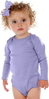 ! Unisex Infants Lap Shoulder Long Sleeve Onesie