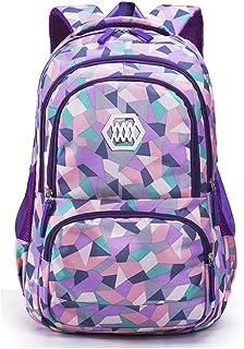 cacc16e3c6 Fanci Geometric Prints Primary School Student Satchel Backpack For Girls  Waterproof Preppy Schoolbag