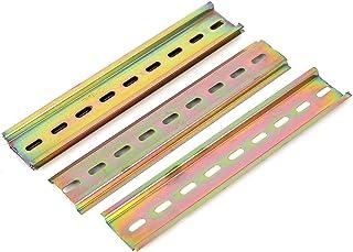 sourcingmap® 5pcs T-Ranura metal ranurado de montaje DIN Carril 180x35mm para el contactor de la CA