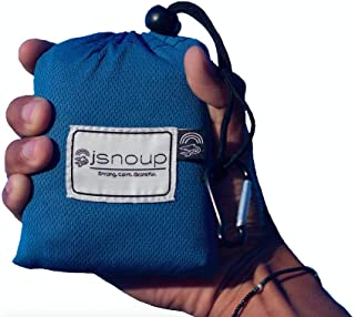 Outdoor Beach Blanket with Compact Bag – Lightweight, Sand Proof, Waterproof – Best Throw Mat for Beach, Hiking, Camping, Picnic, Travel, Sports, Festival - Corner Sand Pockets with Built in Ground St