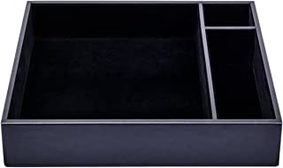Dacasso Black Leatherette Conference Room Organizer Tray