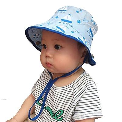 Baby Toddler Kids Breathable Bucket Hat, Sun ha...