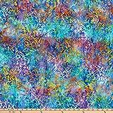 Anthology Batiks Malerpalette Graffiti Mix Blau Stoff