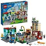 LEGO City Centro Città, Playset con Moto Giocattolo, Bici, Camion, Piattaforme Stradali e 8 Minifigure, 60292
