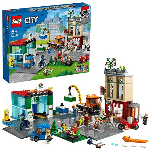 LEGO60292CityCentroUrbanoSetdeConstrucciónparaNiños+6añosconMoto,Bici,Camióny8MiniFiguras