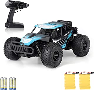 Boy Toys Remote Control Car - 20KM/H High Speed Race Car Can Drift 2.4Ghz 1/16 Off Road RC Truck with Two Rechargeable Battrreries Top Toys for Kids 8 10 12 UP Year Old(Blue)