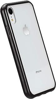 Amazon Basics - Cover per iPhone XR, in TPU + PC (nero), modello trasparente, protettivo e antigraffio