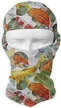 Balaclava Japan Japanese Fish Koi Floral Lotus Full Face Masks UV Protection Ski Cap Mens Headcover for Motorcycle