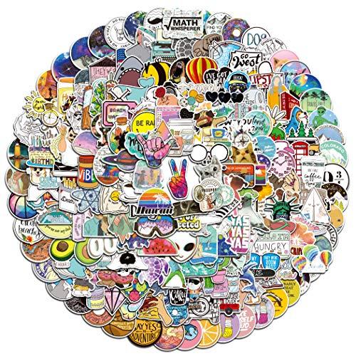 stickers ästhetisch Ausgewählte Graffiti wasserdichte Vinyl lustige und niedliche Aufkleber für Mädchen Wasserflasche Jugend Erwachsenen Auto Motorrad Fahrrad Skateboard Gepäckstoßstange(203 Stück).