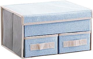 Cabinet Organizer sous-vêtements Boîtes de rangement Boîtiers Organisateurs Diviseurs Organisateur de tiroirs avec couverc...