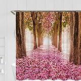 YXWHY Cartoon Schneemann Christmas Duschvorhang 200x200cm,Wasserdicht & schimmelresistent Dekoration Badezimmer Set Vorhange,Shower Curtains rote Blumen Bad Vorhang mit 12 Haken