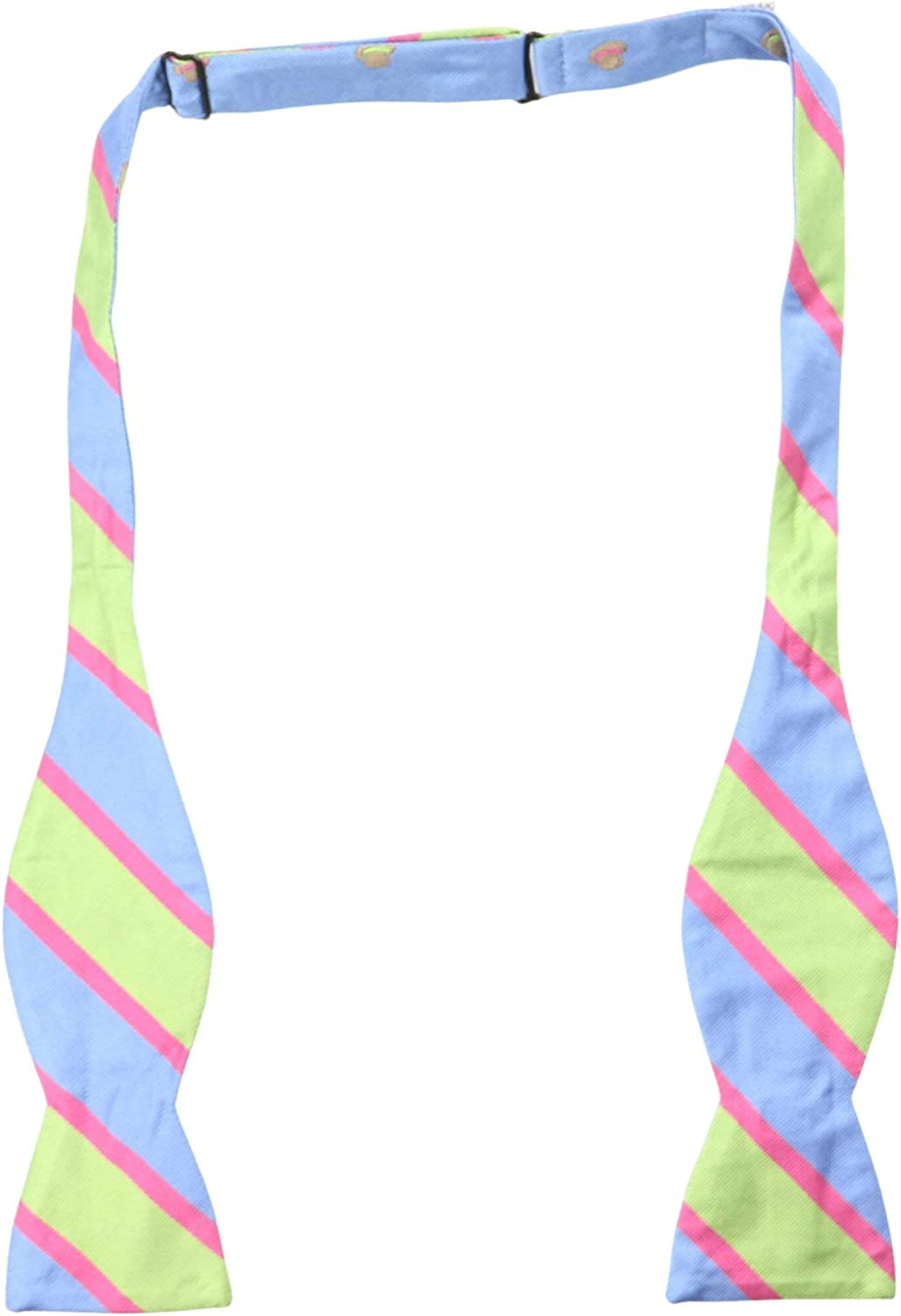Edward Armah Men's Top Hat Striped Double Sided Bow Tie