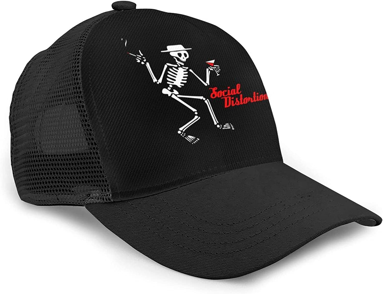 Social Distortion Mesh Baseball Hat Golf Sun Capsfishing Dad Hats Adjustable for Men Women
