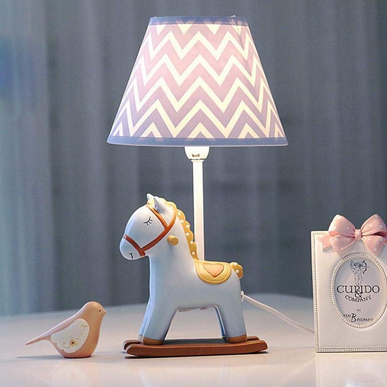 BDYJY  Lampe de Table à LED pour Chambre à Coucher, Lampe de Table dimmable Pony Lampe de Chambre Chaude et Rohommetique pour Enfants