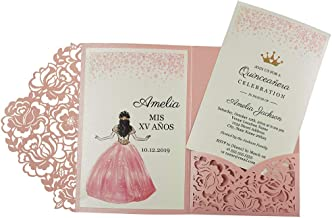 pink and gold invitation template