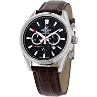 Casio Edifice Black Dial Leather Strap Men's Watch EFB504JL-1A